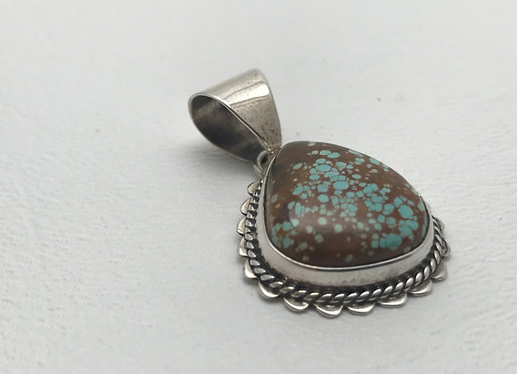 Turquoise set in Sterling Silver Pendant