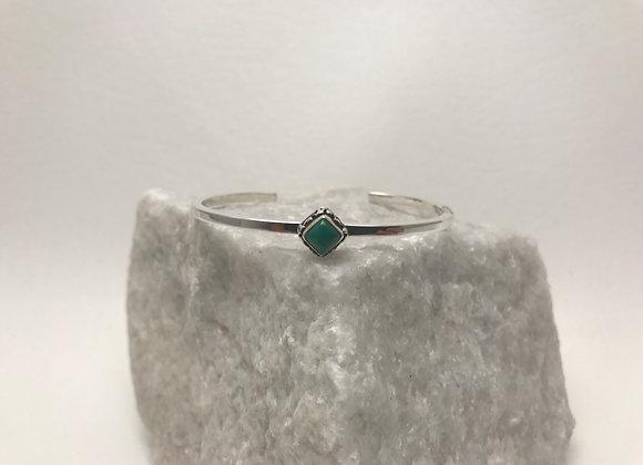 Malachite set in Sterling Silver Cuff Bracelet
