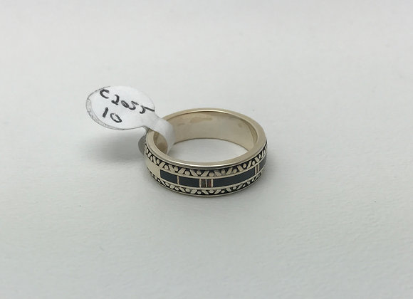 Onyx and Opal Inlay Ring