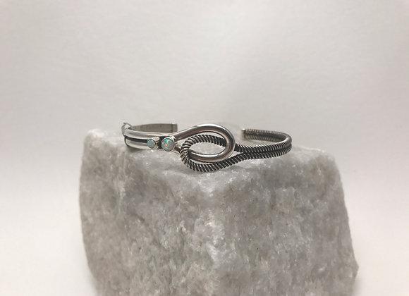Opal set in Sterling Silver Cuff Bracelet