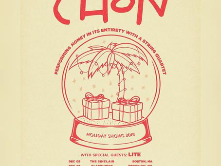 CHON Announces Small Holiday Tour w/ Lite