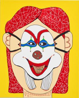 Tears of a Woman Hidden in a Joker Mask
