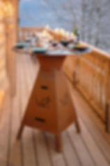 table brasero plancha