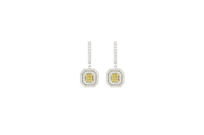 Yellow Diamonds Lady Earrings