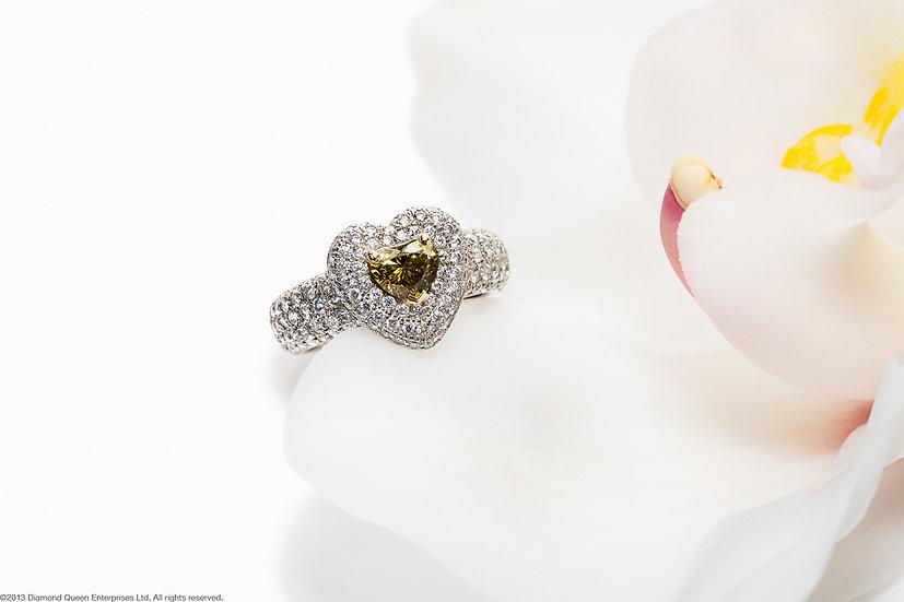 Green Diamond Jubilee Ring