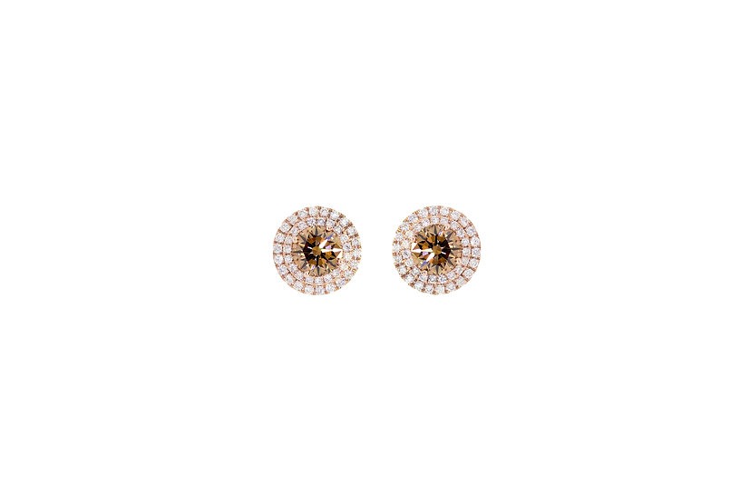 Cognac Earrings