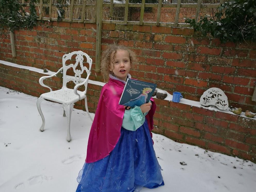 5. In a 'Frozen' garden