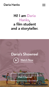Video plantillas web – Estudiante de cine