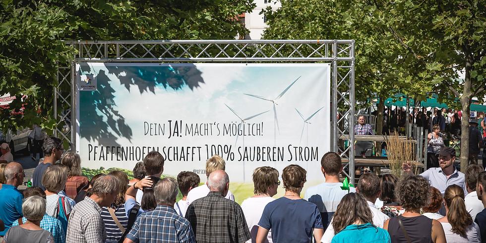 Hubert Aiwanger informiert sich vor Ort über Bürgerwindpark-Planung in Pfaffenhofen