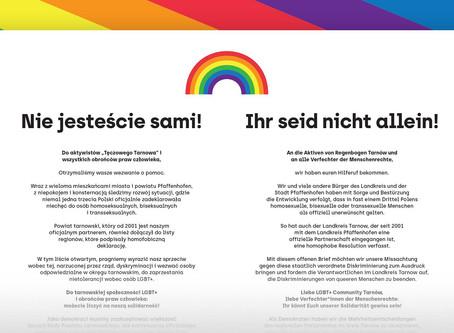 Ein offener Brief an Regenbogen Tarnow: Ihr seid nicht allein!