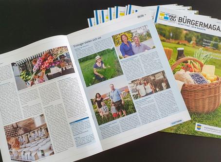 Die Heimat schmecken: Unser Erzeugermarkt im PAFundDU-Bürgermagazin