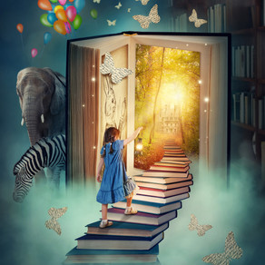 Stepping into a world of imagination...