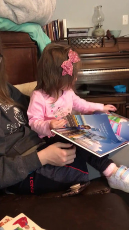 Reading on her Own!