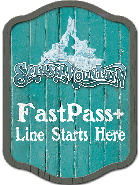 Splash Mountain Fastpass+ Sign