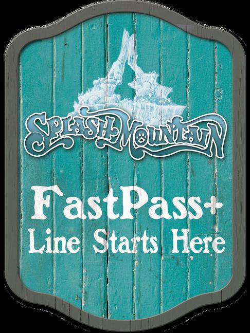 Splash Mountain Fastpass+ Sign