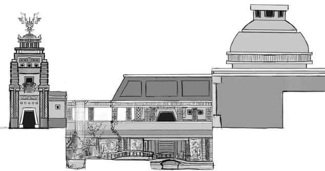 Land of Ja Area Buildings