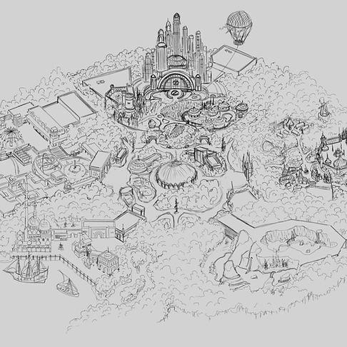 Theme Park Aerial Concept