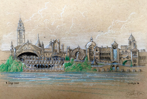 Coney Island to Dinotopia Elevation Sketch