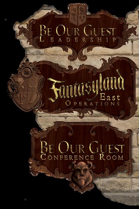 Fantasyland East Directional Signage