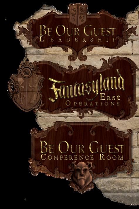 Fantasyland Operations Wayfinding Sign
