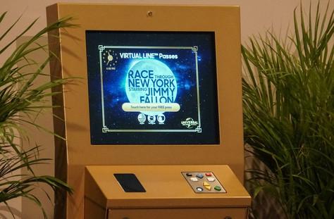 Kiosk User Interface Graphics - Race Through New York Starring Jimmy Fallon
