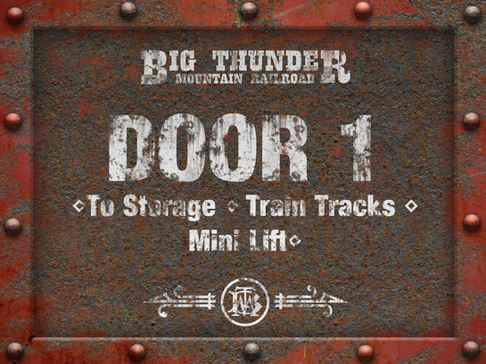 Big Thunder Mountain Railroad Sign Package
