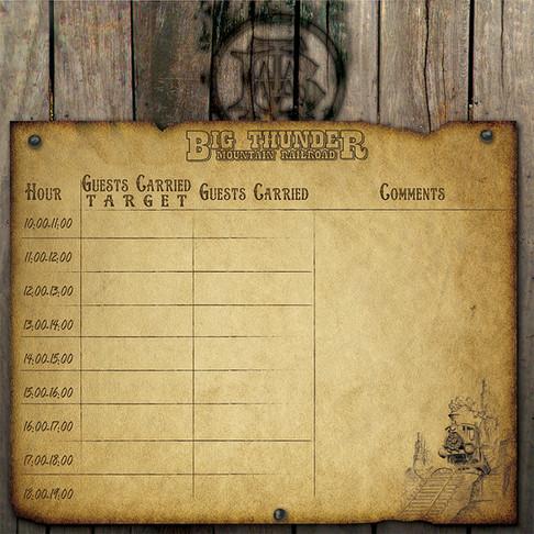 Big Thunder Mountain Railroad - Number Board