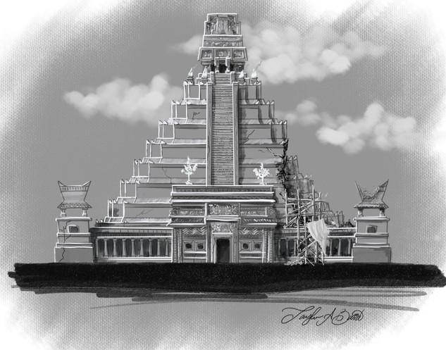 Escape Templo Le Terremoto Elevation