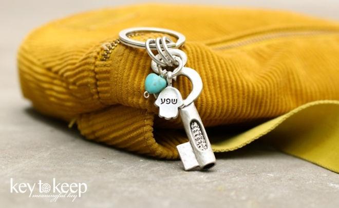 מחזיק מפתחות עם ברכה ושפע