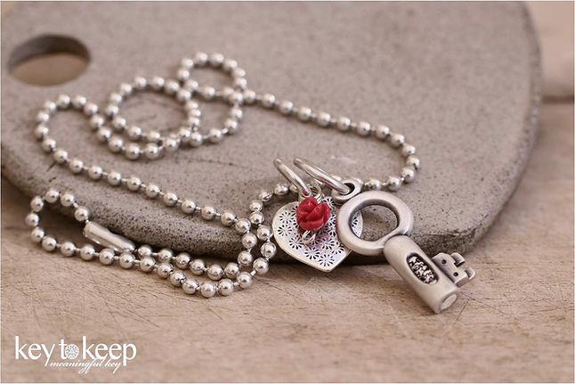 שרשרת מפתח עם הקדשה אישית ומלאת אהבה