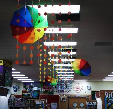 Paper Rainbow Sculpture