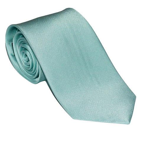 Solid Color Necktie - Light Green, Woven Silk