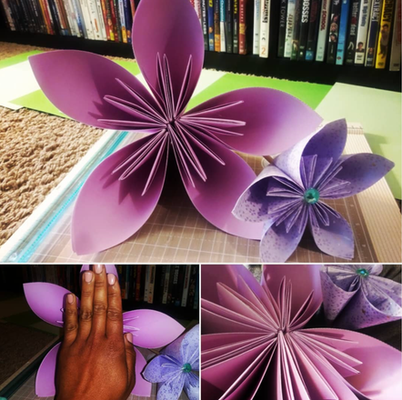 Large and Medium Kusudama Flowers