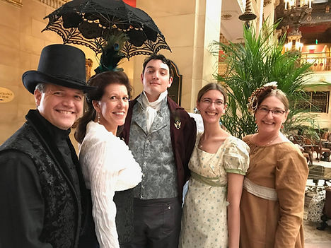 A delightful chance to get dressed up at the Historic Romance Retreat