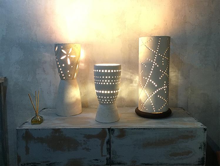 Lámparas decorativas de cerámica