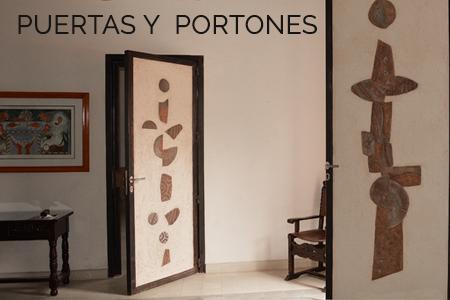 Puerta de fierro y cerámica