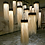 lámparas únicas de fibras naturales