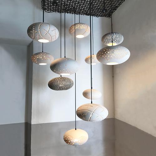 conjunto de lámparas de cerámica