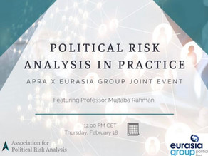 """Political Risk Analysis in Practice"" with Mujtaba Rahman"
