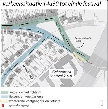 Plattegrond Verkeerscirculatie Schoolrock Festival