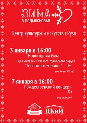 Новогодние каникулы в ЦКиИ Руза.