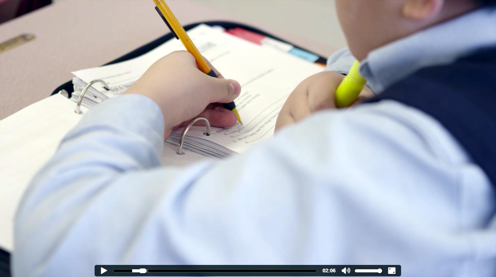Homepage - Student Writing in Binder