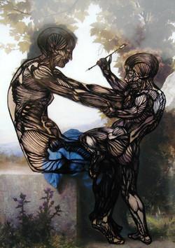 Stabbing: Muscles [from Bouguereau]