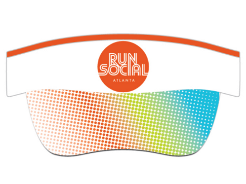 Run Social Visor (White)