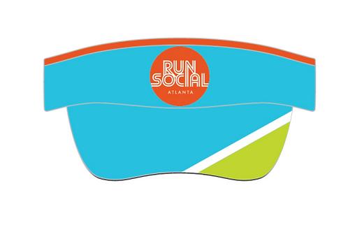 Run Social Visor (Blue)