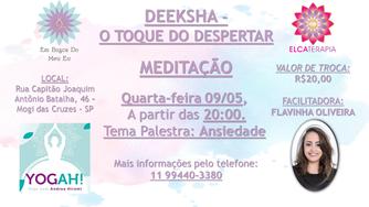 Eventos Maio - Tema: Ansiedade e depressão.