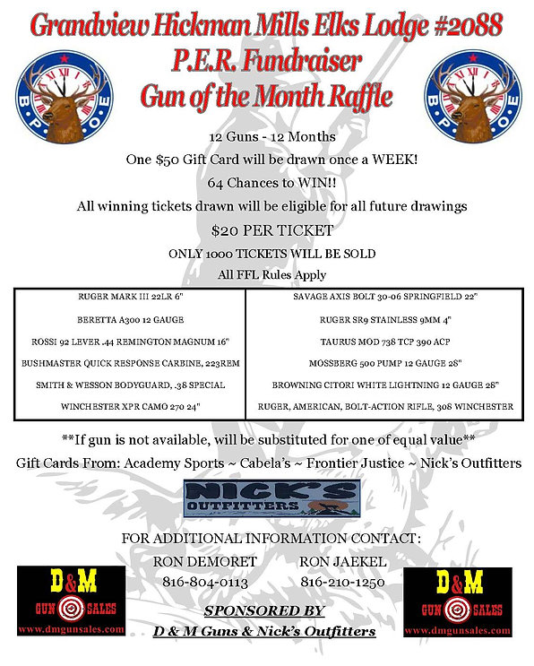 Gun of Month Raffle | Grandview Elks Lodge #2088
