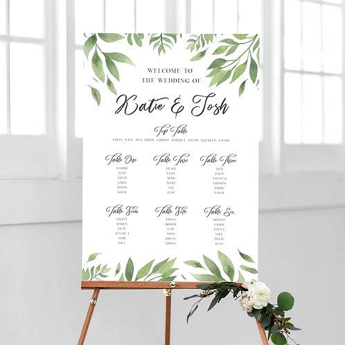 Willow Wedding Table Plan