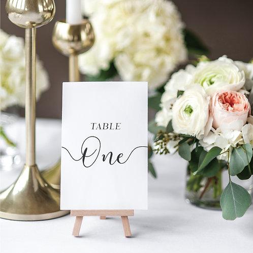 Ophelia Table numbers/names