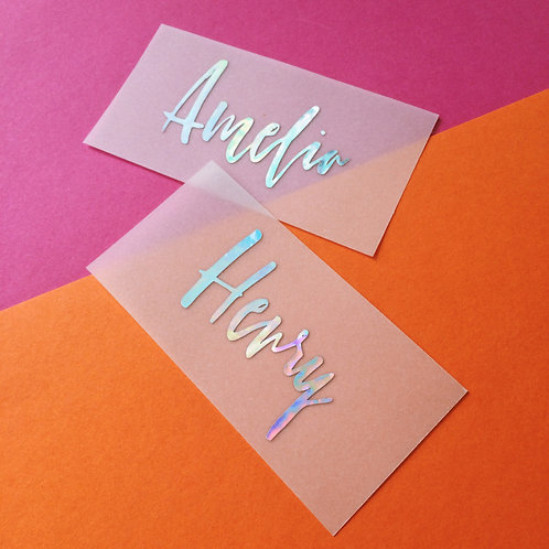 Vega Holographic Vellum Place Cards